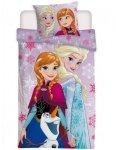 Pościel Kraina Lodu Różowa dla dziewczynki Anna i Stella 160x200 cm Detexpol 100% bawełna Frozen