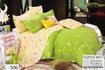 Pościel Collection World 160x200 Zielona w Gwiazdy 100% bawełna wz 506
