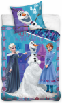Pościel Kraina Lodu Anna i Stella Niebieska 160x200 cm Carbotex 100% bawełna Frozen