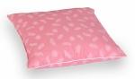 Poduszka z piór dartych ręcznie 70x80 cm Różowa w białe piórka. Poduszka pierze darte Polpuch