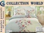 Pościel Collection World 160x200 Szara w kwiaty 100% bawełna wz 556