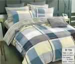 Pościel Mengtianzi 160x200 Kolorowa w Kratkę 100% bawełna wz 756