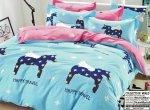 Pościel Collection World 160x200 dla dzieci - Niebiesko - Różowa z Pegazami - Kucykami 100% bawełna wz 944
