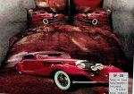 Pościel 3D Samochody Retro 160x200 Collection World 100% bawełna
