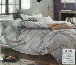 Pościel Mengtianzi Szara - Grafitowa 200x220 cm 100% bawełna B-702