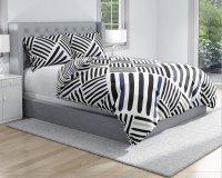 Pościel bawełniana Biało - Czarna - Granatowa 160x200 Carbotex 100% bawełna ROT 191154