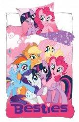 Pościel My Little Pony - Kucyki Pony 160x200 Różowa dla dziewczynki Carbotex 100% bawełna. Pościel dla dziewczynki Kucyki Pony.