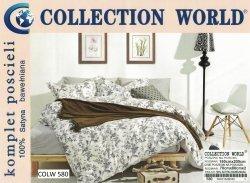 Pościel Collection World 160x200 Ecru w Kwiaty 100% bawełna wz 580