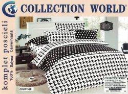 Pościel Collection World 200x220 Biała 100% bawełna wz 538