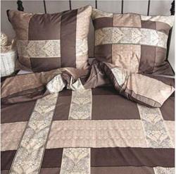 Ekskluzywna pościel satynowa Andropol 160x200 cm 100% bawełna wz. 17 960/1 . Brązowa pościel 160x200