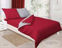Pościel dwustronna satynowa Czerwono - Szara Matex Gold 160x200 100% bawełna wz 20+42