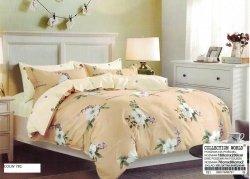 Pościel Collection World 160x200 Beżowa w Kwiaty 100% bawełna wz 781