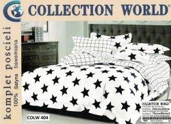 Pościel Collection World 160x200 Biała w gwiazy 100% bawełna wz 404