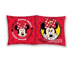 Poszewka bawełniana dla dzieci Disney Myszka Minnie 40x40 Detexpol 100% bawełna  Minnie Mosue