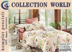 Pościel Collection World 160x200 Różowa w Kwiaty 100% bawełna wz 619