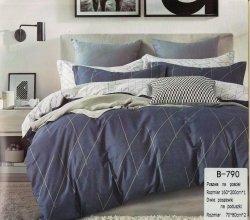 Pościel Mengtianzi 160x200 Szara - Grafitowa  100% bawełna wz B-790