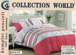 Pościel Collection World 160x200 Czerwona 100% bawełna wz 677
