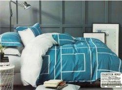 Pościel Collection World 160x200 Niebieska 100% bawełna wz 992