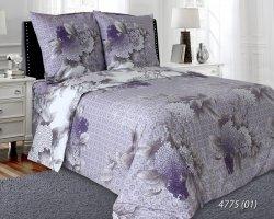 Pościel bawełniana 160x200 Fioletowa w Kwiaty Luxury 100% bawełna. Fioletowa pościel 160x200