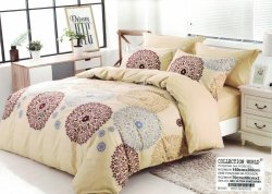 Pościel Collection World 160x200 Beżowa 100% bawełna wz 1043