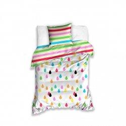 Kolorowa ościel dla dzieci i młodzieży 160x200 Carbotex 100% bawełna.