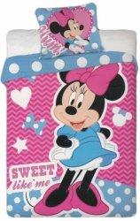 Pościel dla dzieci Disney 100x135 Myszka Mini - Minnie Mouse 100% bawełna Minnie 019