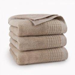 Ręcznik kąpielowy 70x140 Beżowy Paulo - Zwoltex