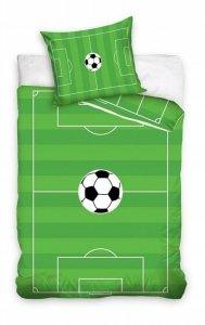Pościel 3D Piłka Nożna -  Murawa - Boisko 140x200. 100% Bawełna Carbotex wz. SOC 17 - 140