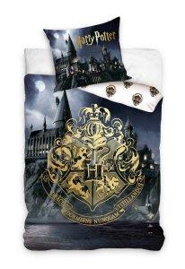 Pościel młodzieżowa Harry Potter -  Hogward  140x200 Carbotex 100% bawełna HP 202019