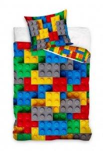 Pościel młodzieżowa Klocki 160x200 Carbotex 100% bawełna wz NL201074