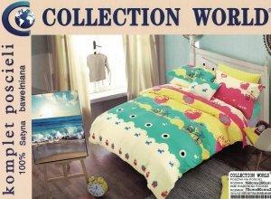 Pościel dla dzieci Collection World 160x200 100% bawełna wz 515