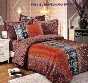 Pościel Cotton World 160x200 Brązowa 100% bawełna wz. 102