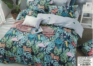 Pościel Collection World 200x220 Kolorowa Dżungla 100% bawełna wz 1328