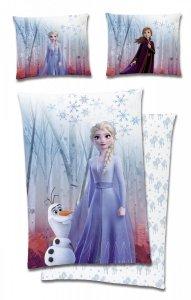 Pościel Kraina Lodu Stella i Olaf Niebieska 160x200 cm Carbotex 100% bawełna Frozen
