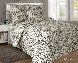 Pościel satynowa Luxury 160x200 Kremowy Żakard 100% bawełna. Pościel Żakard 160x200