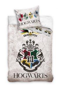 Pościel młodzieżowa Harry Potter - Gryfinfor - Hufflepuff - Ravenclaw - Slytherin  - Quidditch 140x200 Carbotex 100% bawełna HP 191061