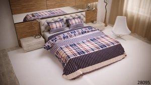Pościel bawełniana 200x220 Kratka Luxury 100% bawełna. Pościel w Kratkę 200x220