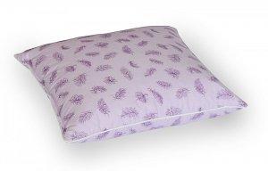Poduszka z piór dartych 50x60 cm Fioletowa w fioletowe piórka. Poduszka pierze darte Polpuch