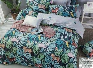 Pościel Collection World 160x200 Kolorowa - Dżungla 100% bawełna wz 1328