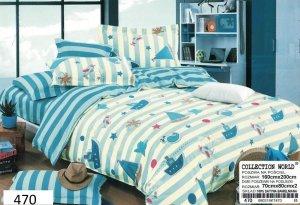 Pościel dla dzieci Collection World 160x200 Marynarska 100% bawełna wz 470