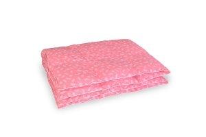 Kołdra półpuch gęsi 200x220 cm Różowa w białe piórka. Kołdry Polpuch