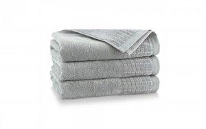 Ręcznik kąpielowy Zwoltex 50x100 Paulo 3 - Jasny Grafit - Bawełna Egipska.