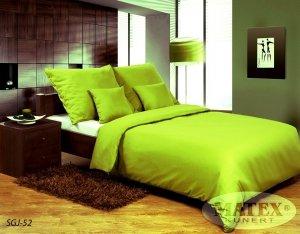 Pościel satynowa Matex Exclusive 160x200 Gładka - Jasno Zielona 100% bawełna wz SGJ-52