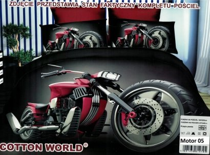 Pościel 3D Motor Chopper Cotton World 100% mikrowłókno wz. Motor 05
