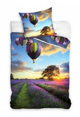 Pościel młodzieżowa 3D Balony - Lawenda 160x200 Carbotex Kolorowa 100% bawełna NL171063
