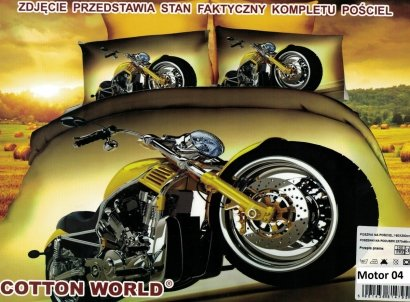 Pościel 3D Motor Chopper Cotton World 100% mikrowłókno wz. Motor 04