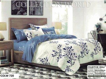 Pościel Collection World 160x200 Granatwoa 100% bawełna wz 720 Ecru