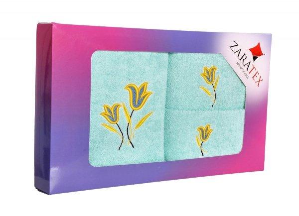 Komplet haftowanych ręczników Zaratex