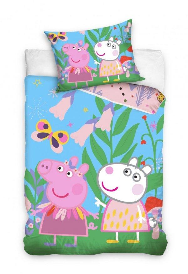 Pościel dla dzieci Świnka Peppa i Przyjaciele 140x200 Carbotex