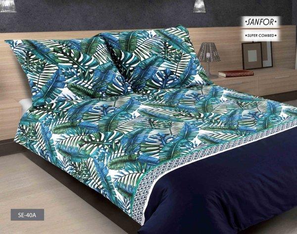 Pościel Matex Exclusive 200x220 Biała w Liście SE-40A